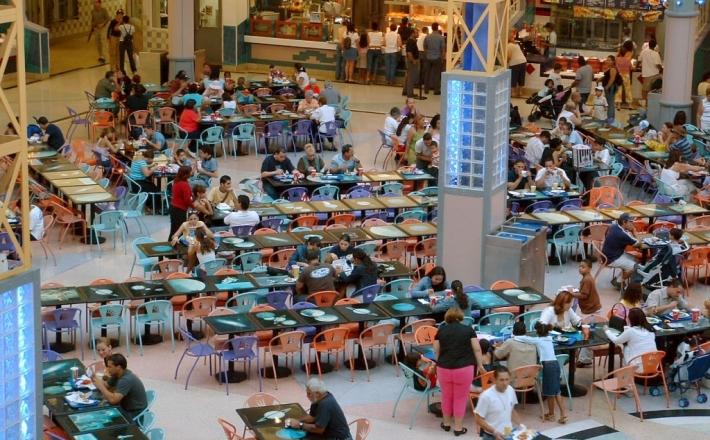 Centrum handlowe jak restauracja