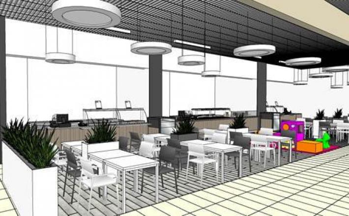 Nowy food court w Galerii Tarnovia